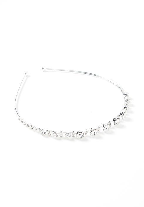 Audrey Silver Diamond Detailed Headband