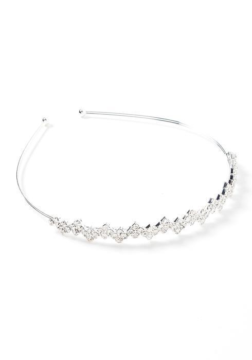 Ellie Silver Diamond Detailed Headband
