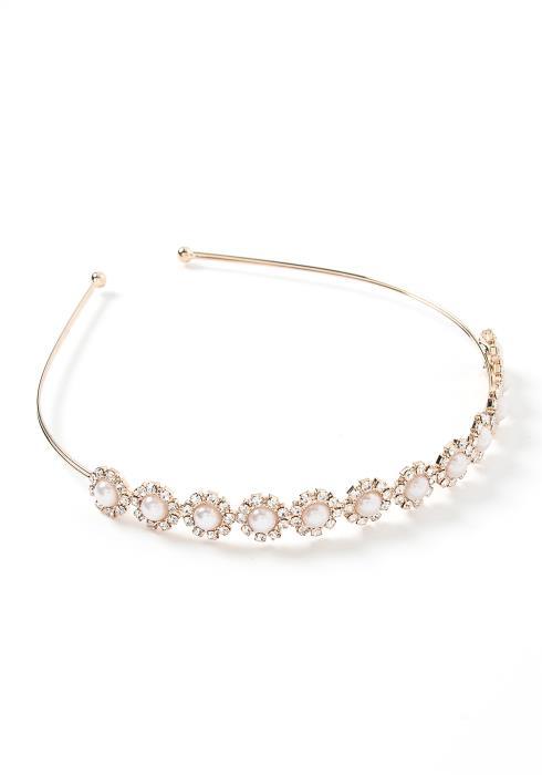 Clair Golden Pearl & Diamond Detailed Headband