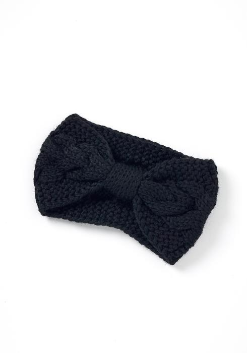 Lesly Cable Knit Bow Headband
