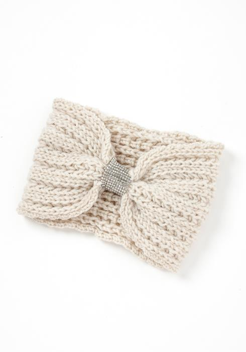Yvonne Cable Knit Diamond Cuff Headband