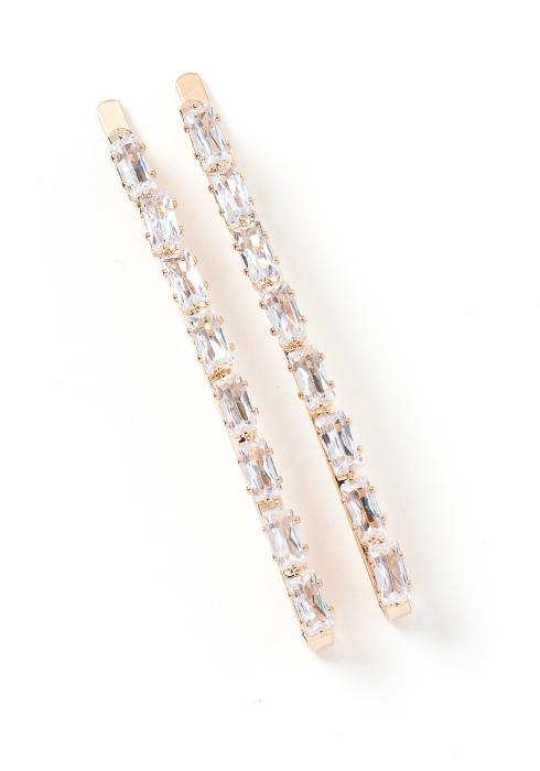 Bella Emerald Gem Hair Pin Set