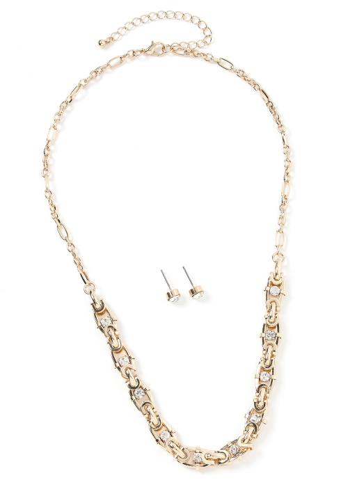 Alexa Chain Link Necklace & Earring Set