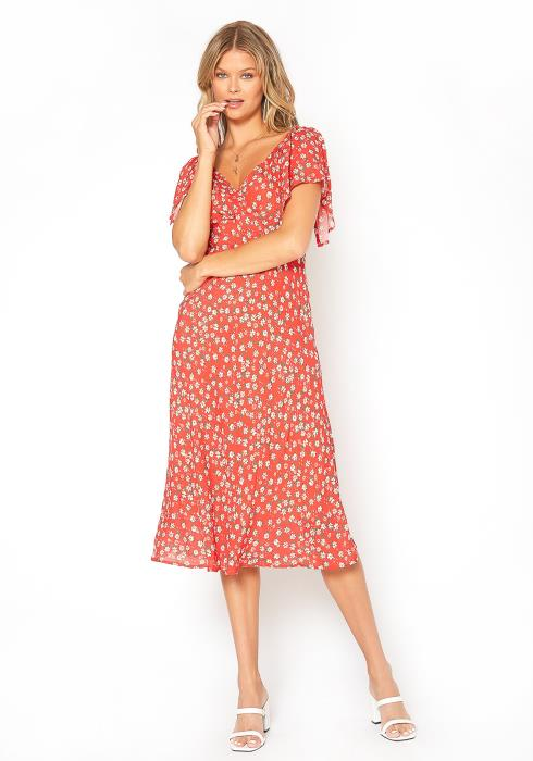 BTFL-life Daisy Floral Print Midi Dress
