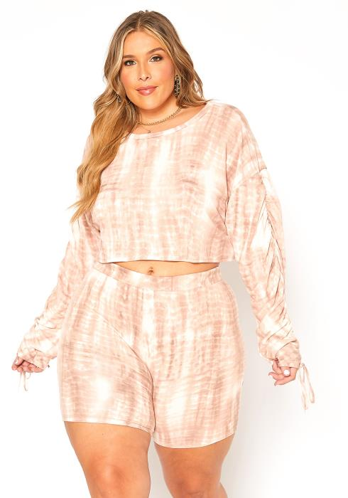 Asoph Plus Size Cuddle Me Tie Dye Lounge Set