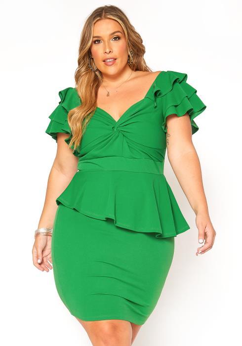 Asoph Plus Size Endless Love Ruffle Tier Mini Dress