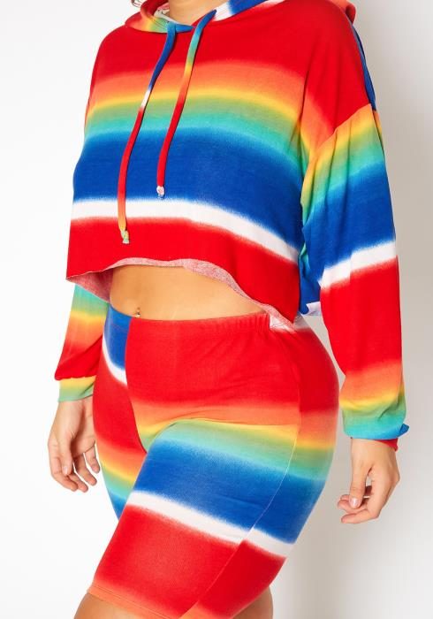 Asoph Plus Size Rainbow Charm Three Piece Set