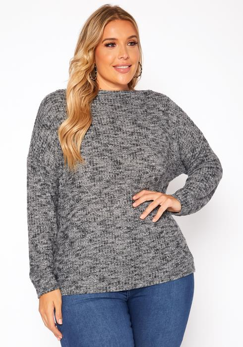 Asoph Plus Size Waffle Knit Sweater
