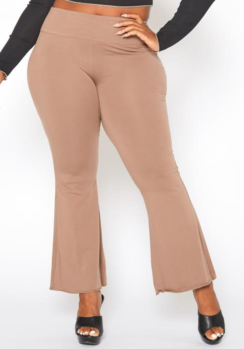 Plus Size High Waist Flare Leggings