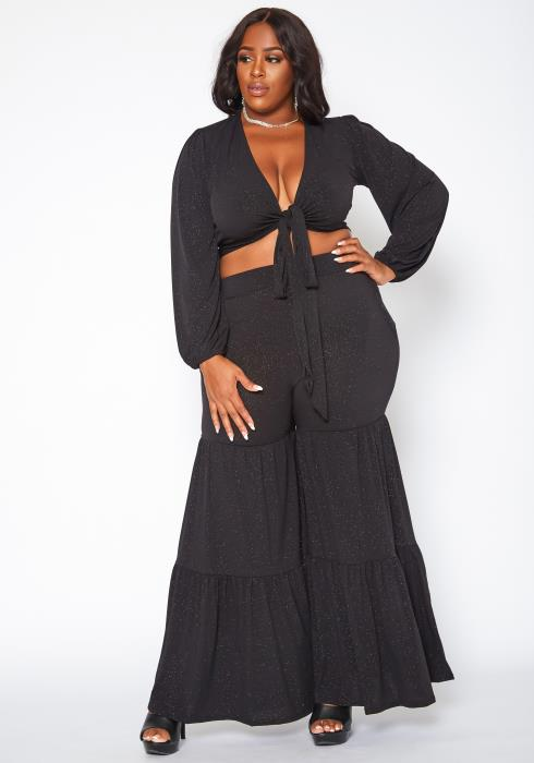 Plus Size Midnight Shimmer Two Piece Set