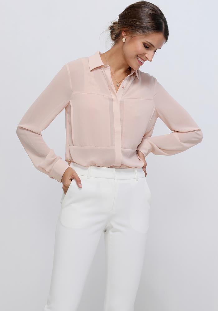 Ro De Noir Sheer Button Up Blouse Women Clothing Asoph Com