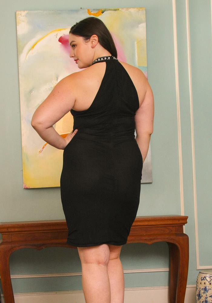 Asoph Plus Size Halter Neck Studded Dress Asoph