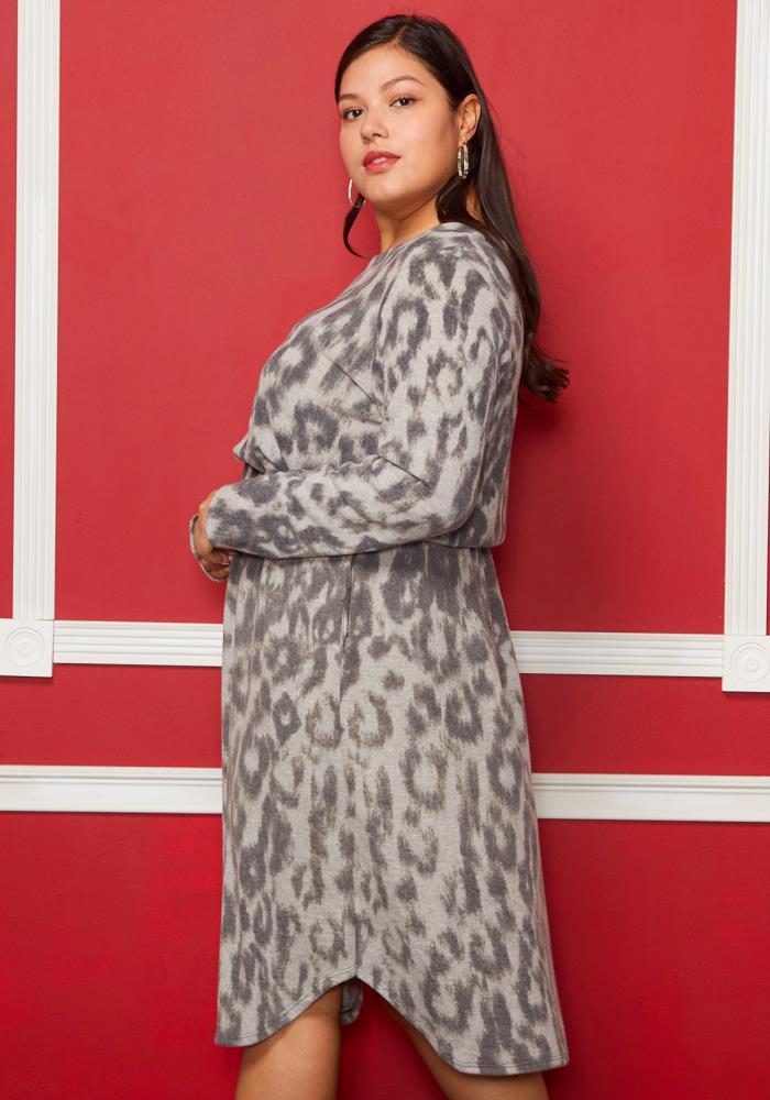 Asoph Plus Size Leopard Print Tie Waist Dress  1adccc865
