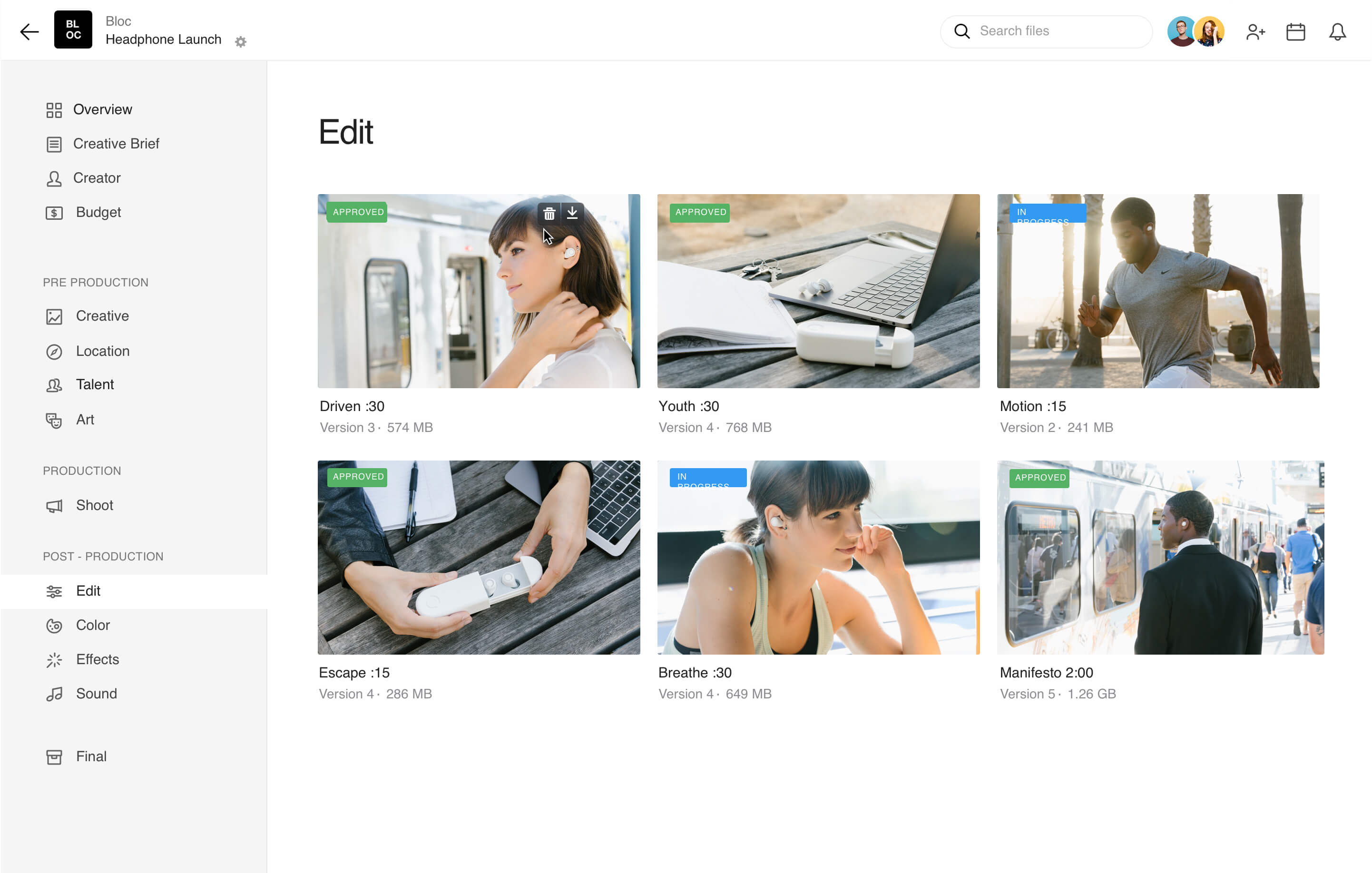 Organize and archive all of your video and photo files.
