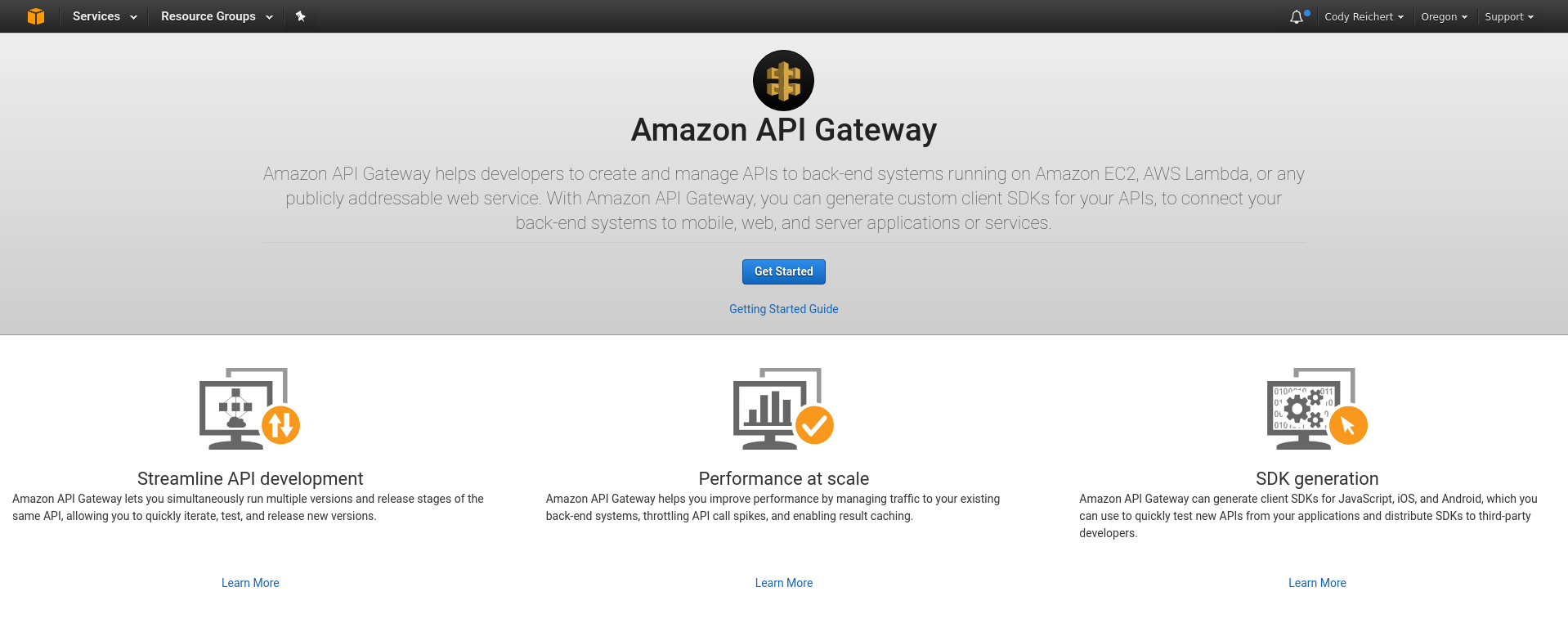 Getting started with AWS API Gateway