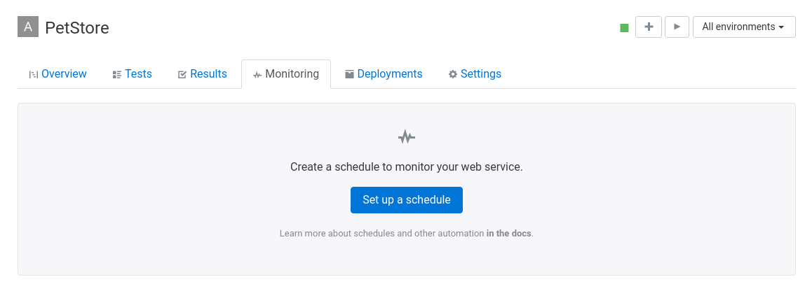 Set up monitoring for an API in Assertible