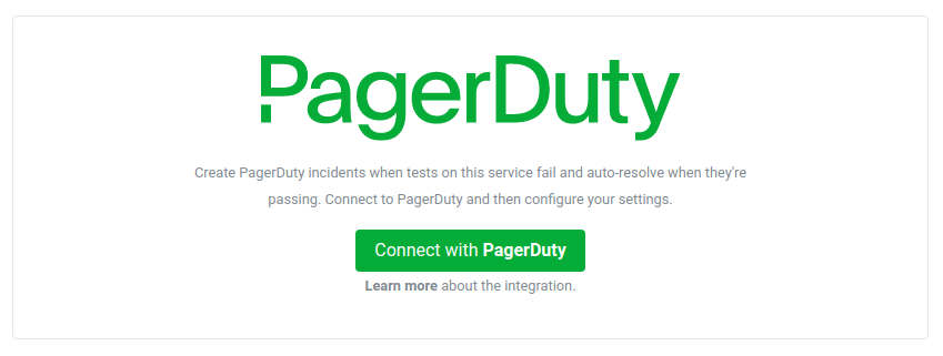 Enable the Assertible PagerDuty integration