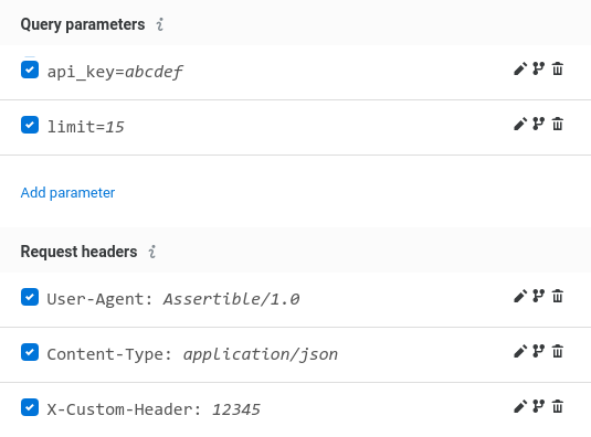 New feature: Enable and disable request headers and query parameters