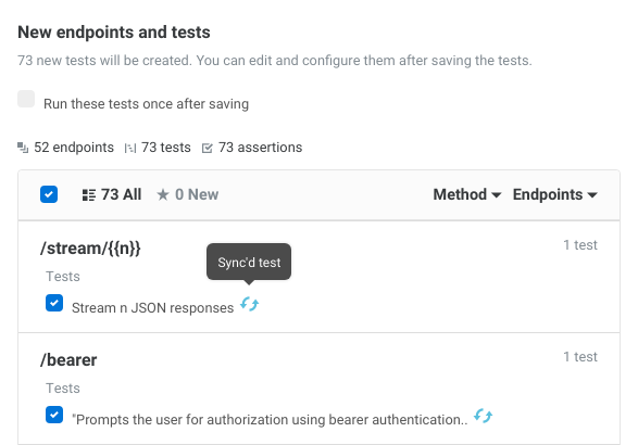 Syncing OpenAPI specification with Assertible tests