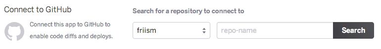 Heroku choose GitHub repository