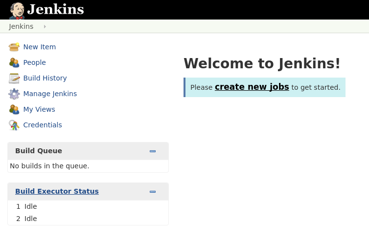 Create a new job in Jenkins