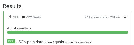JSONPath data select key result Assertible error message