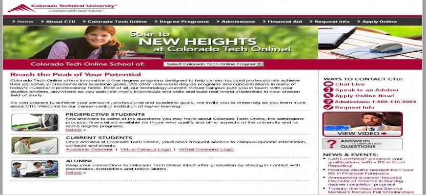 Colorado Technical University-Online | Overview | Plexuss com