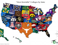 Most Desireable Colleges By State