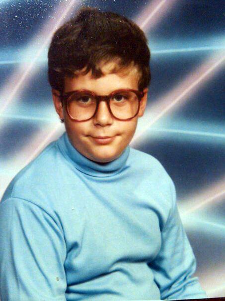 creepy yearbook photo
