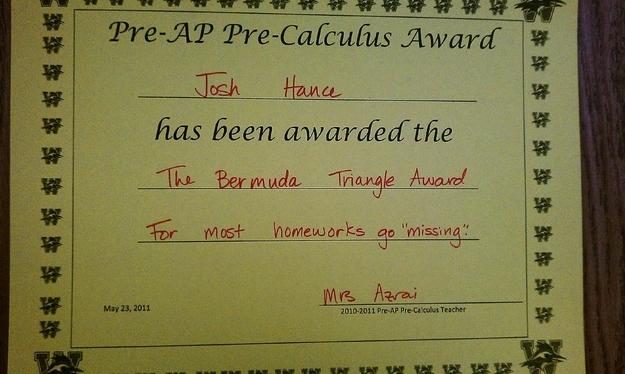 funny teacher certificate