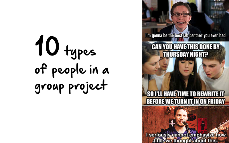 10 Types Of Partners Everyone Has In Group Projects