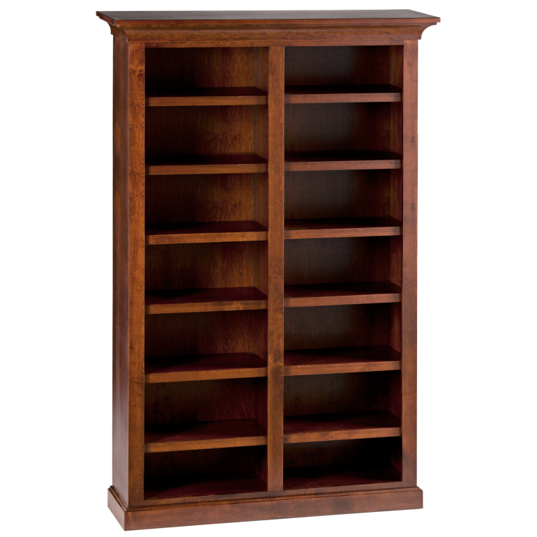 shelf wood units bookcase corner square bookcases product home shelving mahogany alera veneer x seven