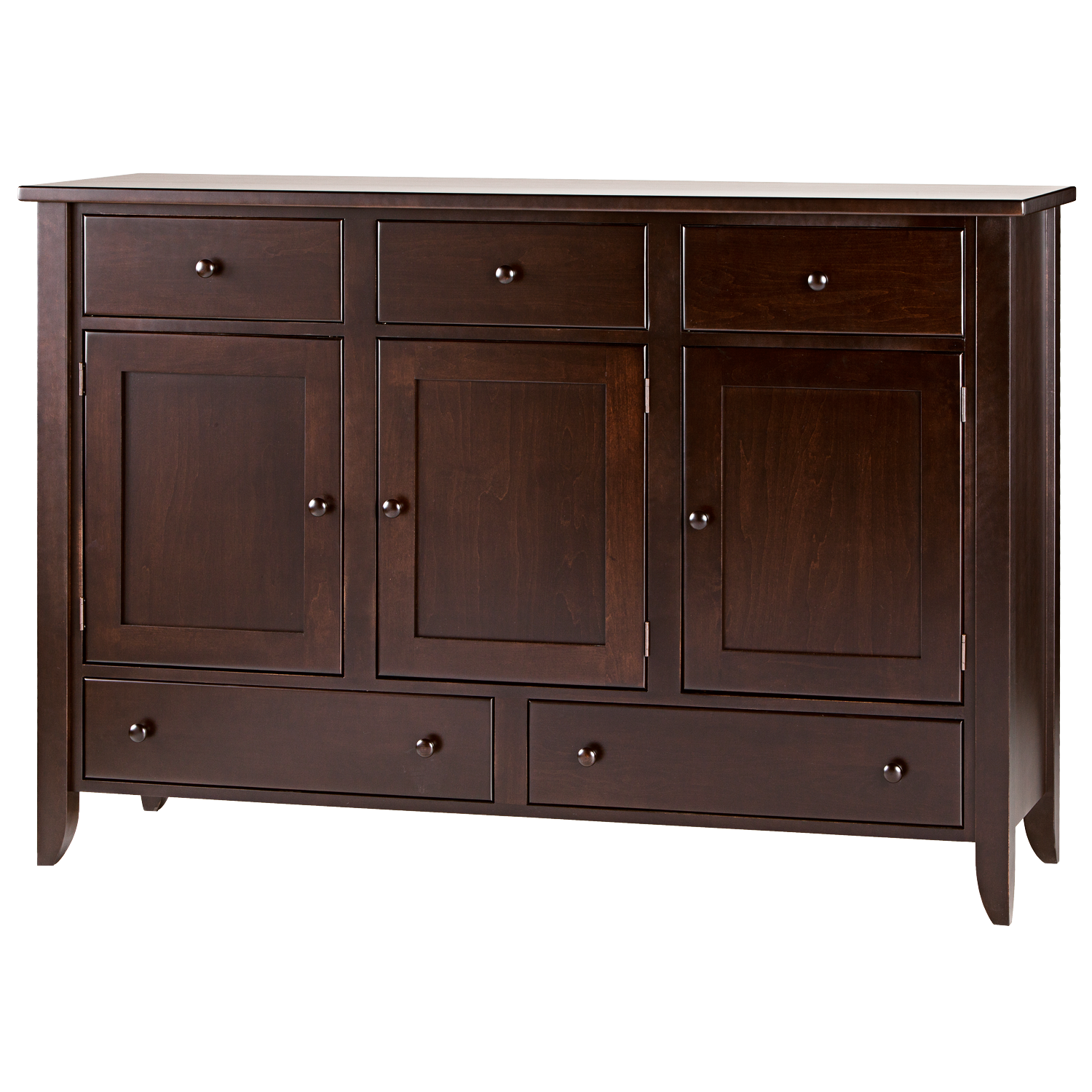 Dining Room Chest Of Drawers: Tapered Leg 5 Drawer 3 Door Dining Chest