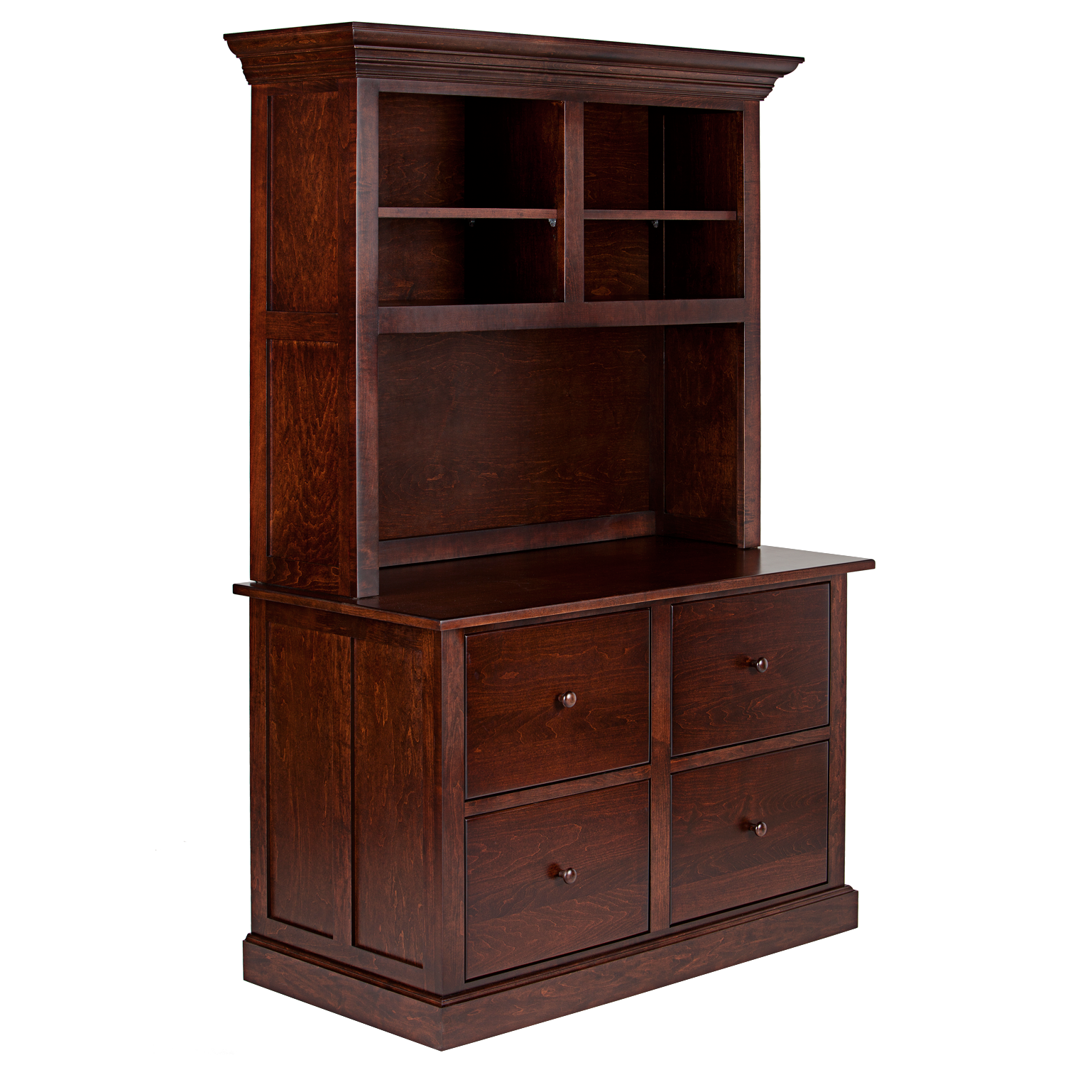 Shaker Hutch For 45w Lateral File Cabinet Hotzon