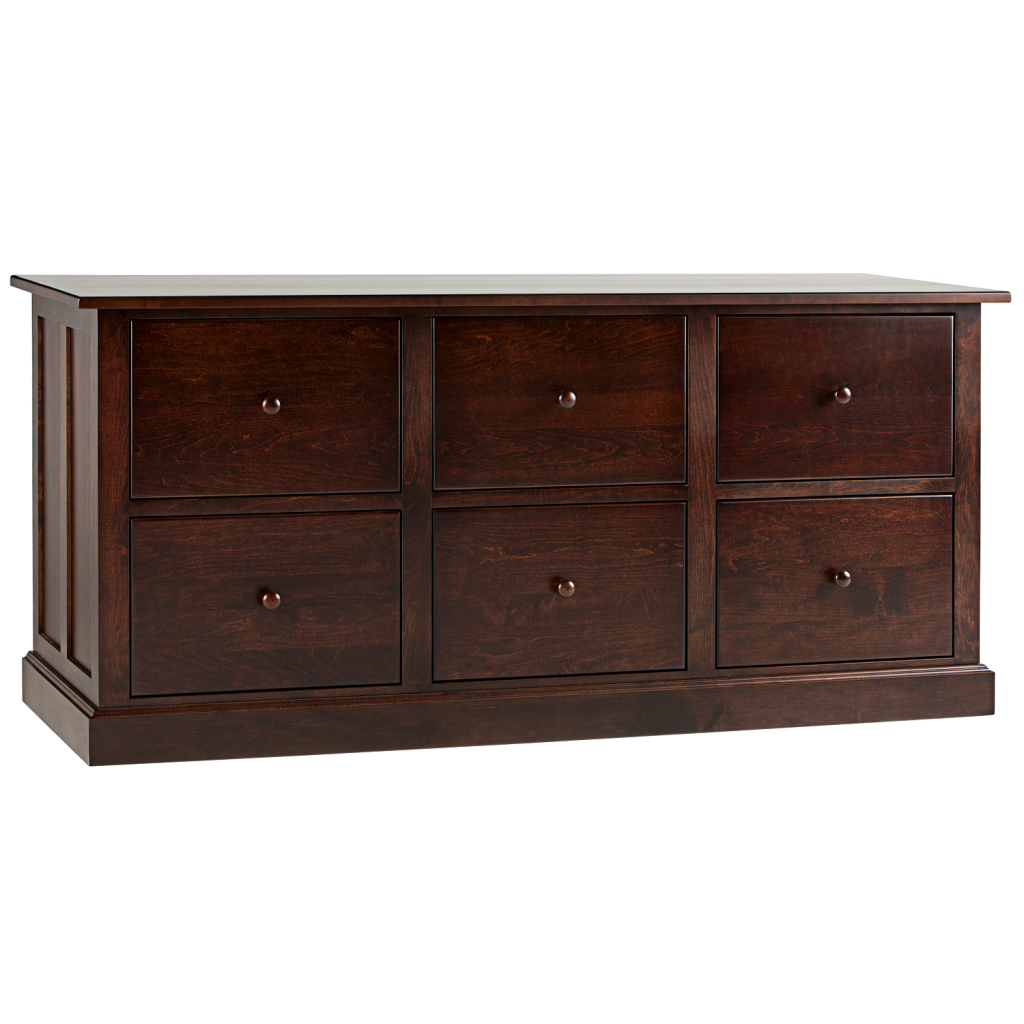 Shaker 6 Drawer Lateral File Cabinet