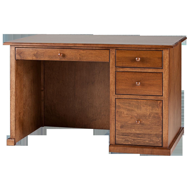 Traditional Single Pedestal Desk Hotzon Furniture Inc