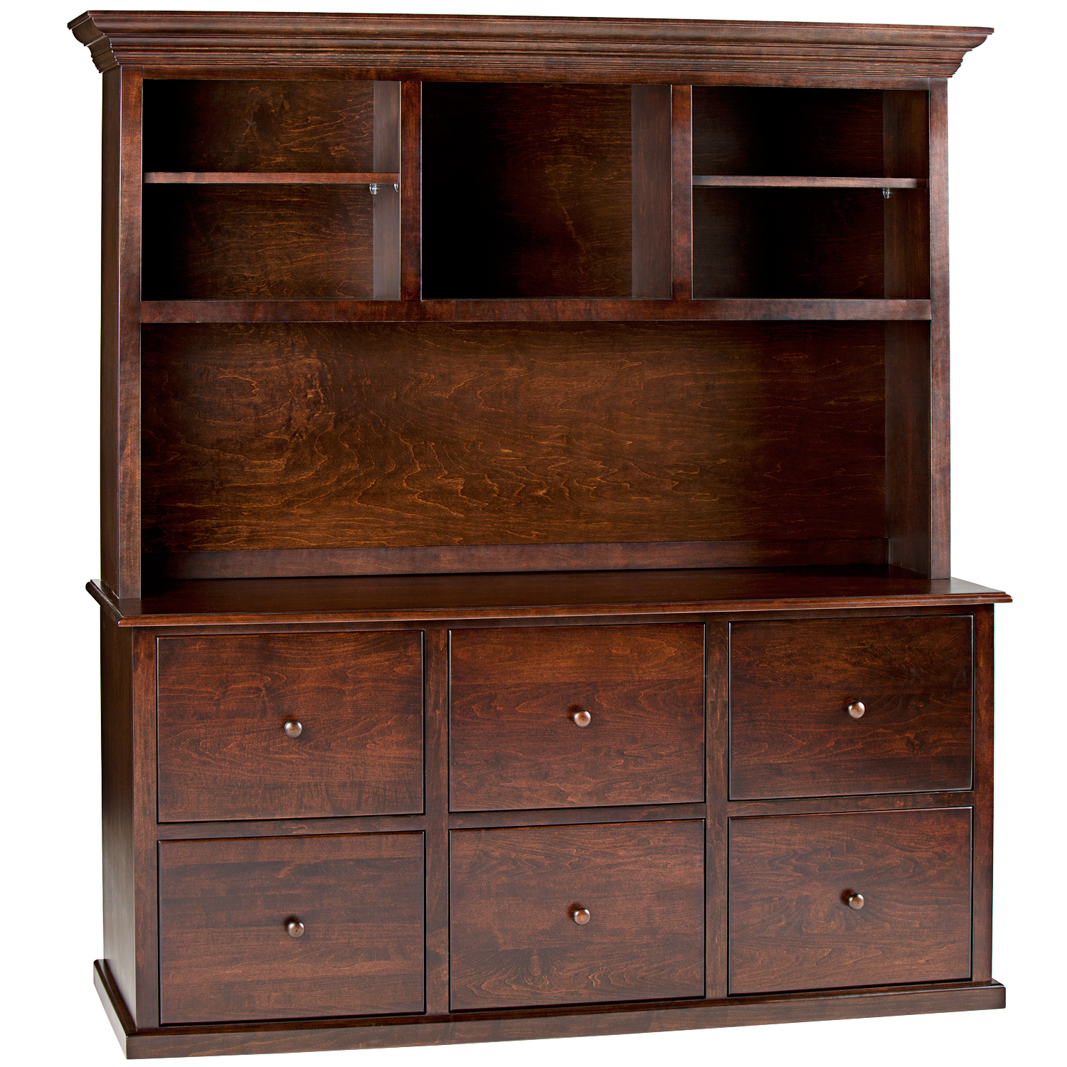 Traditional Hutch For 6 Drawer Lateral File Or 4 Drawer 2 Door