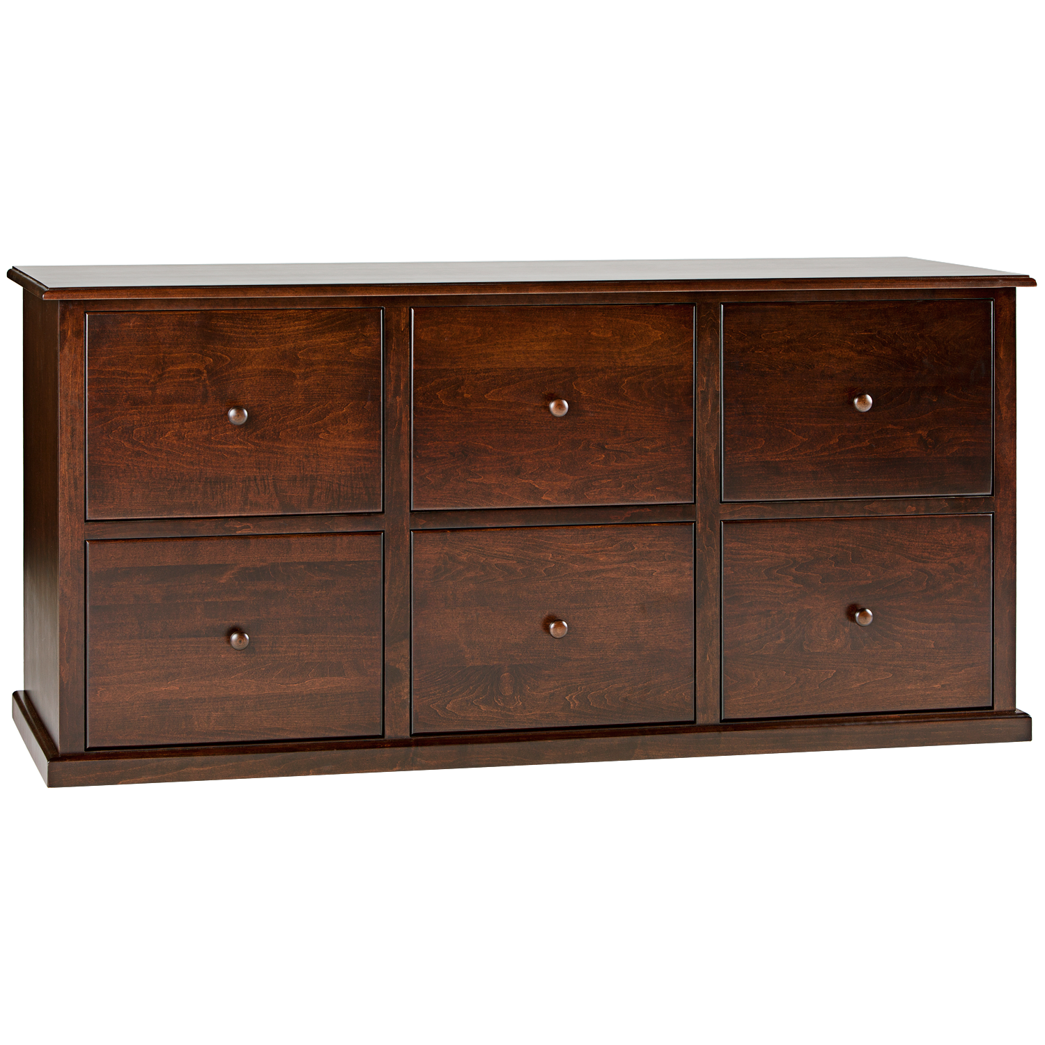 Traditional 6 Drawer Lateral File Cabinet Hotzon Furniture