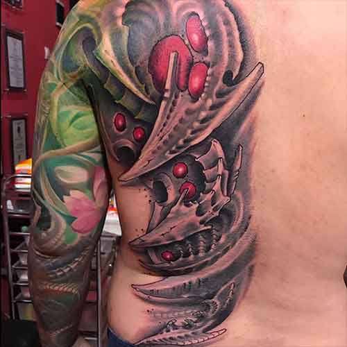 Pengerjaan tattoo 5x2 oleh kent tattoo