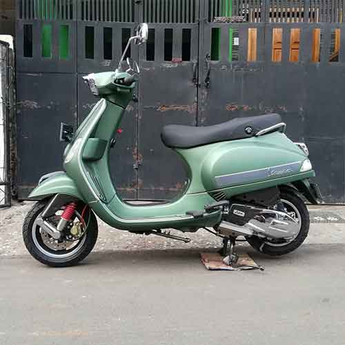 repainting & powder coating vespa matic