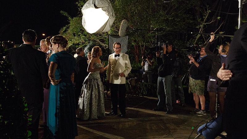 Cleo (Diane Lane) and Dalton Trumbo (Bryan Cranston) on set.