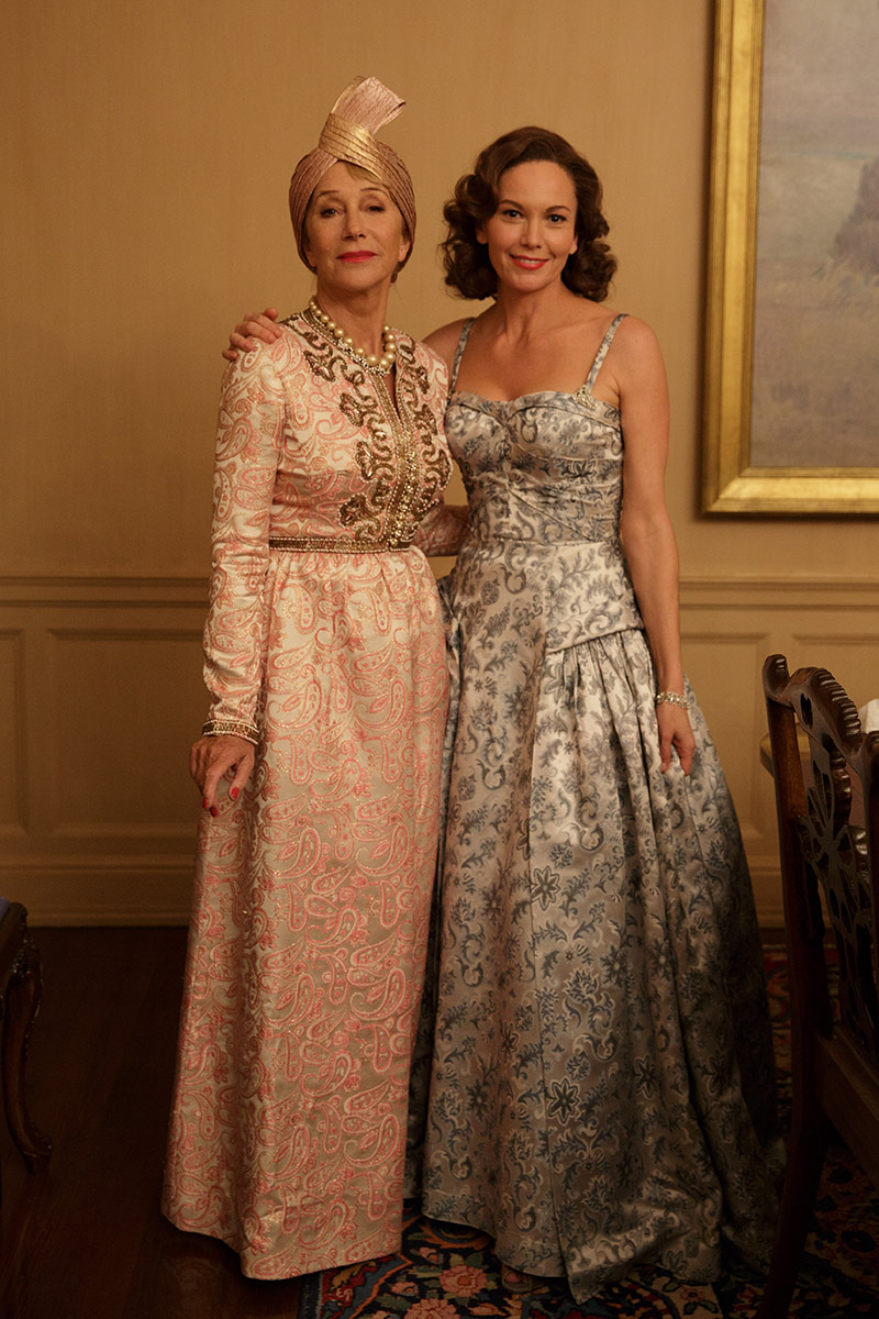 Helen Mirren and Diane Lane as Hedda Hopper and Cleo Trumbo, respectively