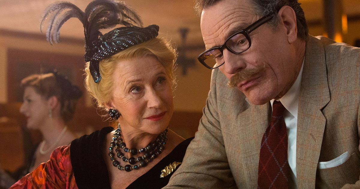 Helen Mirren with Bryan Cranston in TRUMBO