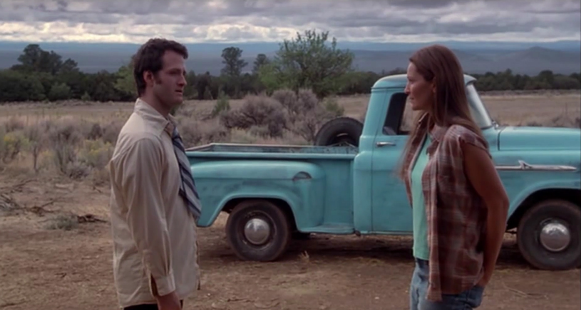 Jim True-Frost and Joan Allen in Off The Map