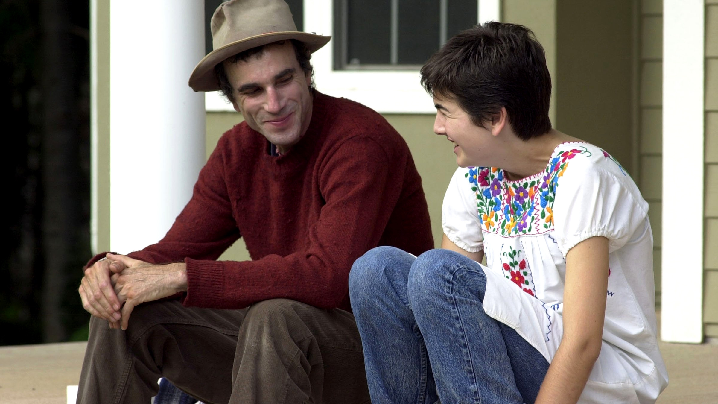 Daniel Day-Lewis and Camilla Belle in The Ballad of Jack and Rose
