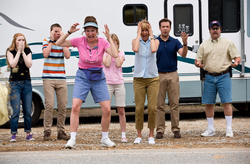 Kathryn Hahn and the cast from We're The Millers