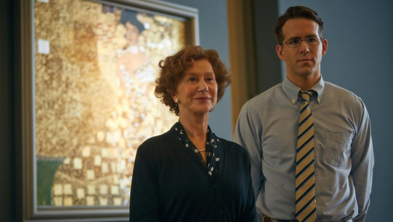 Helen Mirren and Ryan Reynolds in Woman in Gold