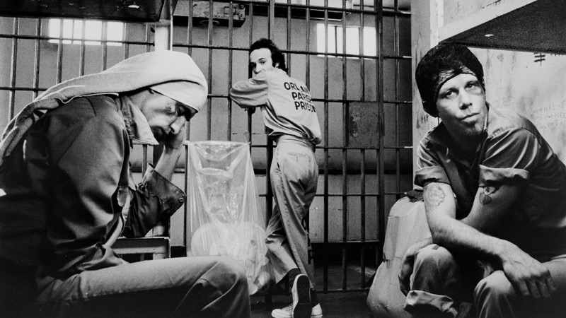 John Lurie, Roberto Benigni, and Tom Waits in Down by Law