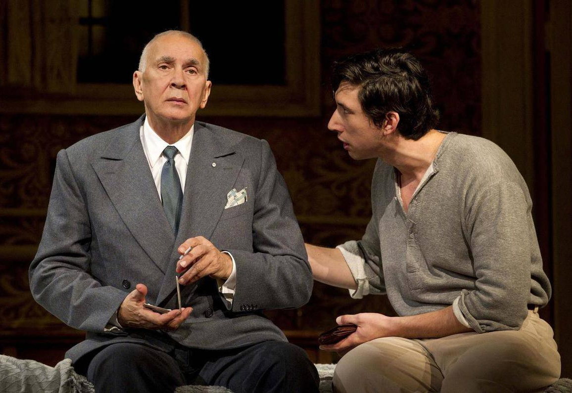 Frank Langella and Adam Driver in Man and Boy