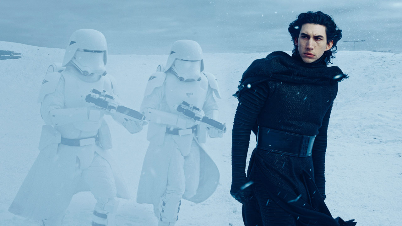 Annie Leibovitz photo of Adam Driver as Kylo Ren